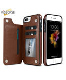 CASE Brown PU Leather Iphone Wallet Case